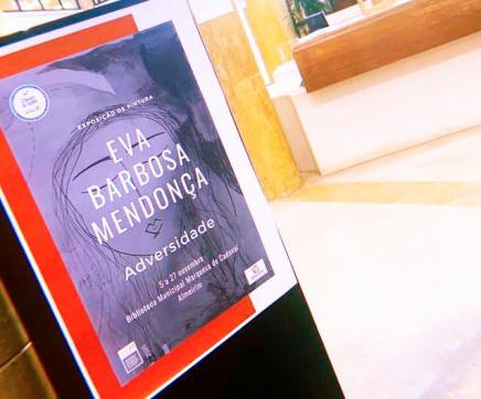 Eva Barbosa Mendonça expõe na Biblioteca Municipal de Almeirim